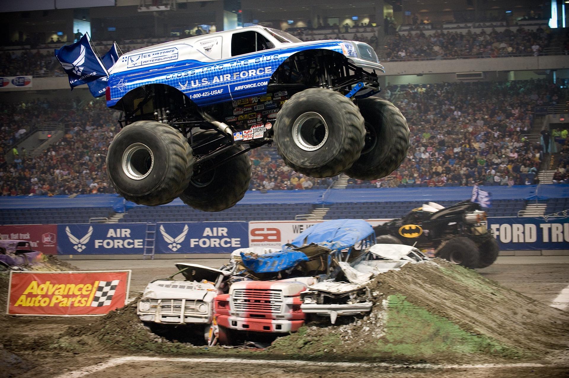 Die Monster-Truck Rennen
